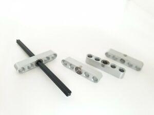 Aluminium metal BEARING beam BLOCK fits Lego Technic axles & beams