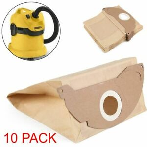 FITS KARCHER A2000 A2004 A2014 A2054 VACUUM CLEANER DUST HOOVER BAGS TEN 10 PACK
