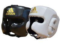 Adidas Speed Boxing Head Guard Adult MMA Sparring Headguard Chin Cheek Guard