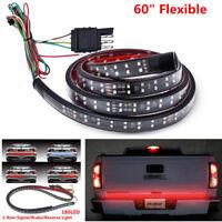 "60""Car Trunk Tailgate Red White LED Light Bar For Reverse Brake Turn Signal Tail"