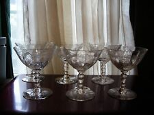 HTF Set of 6 Clear Fostoria Chintz Low Sherbets NR