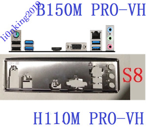 1PCS BACKPLANE IO I/O SHIELD FOR MSI H110M B150M PRO-VH MOTHERBOARD
