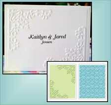 Sizzix Embossing Folders CORNERS & DAMASK Folder 656977 scrolls,border,wedding