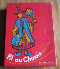 BOITE PH. VRAU  FIL AU CHINOIS / 23 PELOTES DE 50 METRES LIN NOIR 80