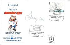 WORLD CUP SPAIN 1982 ENGLAND V FRANCE MATCH COVER - SIGNED BY JIMMY HILL