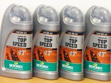 12,-€/l Motorex Top Speed 4T 15W/50 MA2  4 x 1 L synthetisches Hochleistungsöl