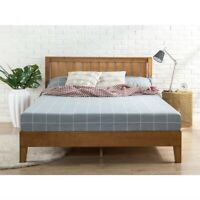 Fast Furnishings Full size Solid Wood Platform Bed Frame with Headboard in Me...
