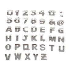 40X 3D Chrom Auto Aufkleber Klebe Buchstaben Emblem Badge Sticker A-Z & 0 -9 &