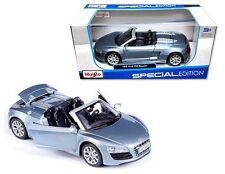 MAISTO 1:24 W/B SPECIAL EDITION AUDI R8 SPYDER Diecast Car Model Blue