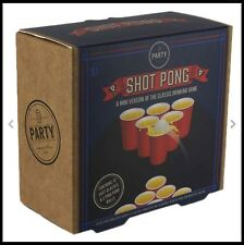 Shot Pong Party Drinking Game - Retro Style Adult Party Game