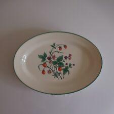 Plat ovale céramique faïence fait main handmade 1920 art nouveau déco France