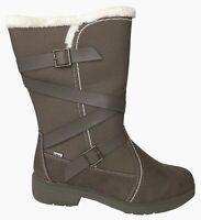 Totes Diedre Women's Waterproof Winter Boots Brown Zip Closure Size 11 M New