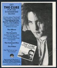 1986 The Cure Robert Smith photo Standing On The Beach release vintage print ad