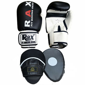 Training 14oz Boxing Gloves Tetro UK Genuine Cowhide Leather Sparring