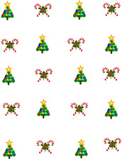 CHILD SIZED Dot Christmas Trees and Candy Canes  Waterslide Nail Decals/Nail art