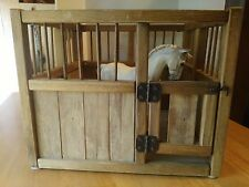 Wooden Box Stall For Model Horses- Breyer Horse Not Included