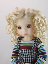 Monique REBECCA Wig Champagne Size 6-7 YoSD BJD shown on Avery by My Meadow