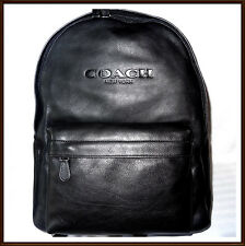 NWT NEW W/ TAGS $550 Coach Men's Calf Leather Large Campus Backpack BLACK