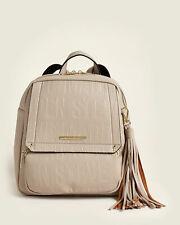 BNEW STEVE MADDEN  Tampa Logo Flap Backpack Bag, Bisque