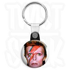 David Bowie - Ziggy Stardust - 25mm 70's Keyring Button Badge, Zip Pull Option