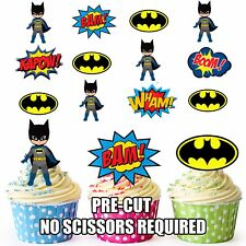 image about Batman Cupcake Toppers Printable known as Batman Cake Toppers Cupcake Options for sale eBay