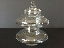Elegant Glass Imperial Candlewick #400/655 2 Section Tower Jar Very Rare