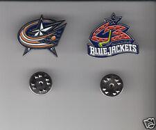 COLUMBUS BLUE JACKETS Lot 2 Different METAL LAPEL PINS NHL Hockey Team Logo Pin