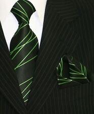 Krawatten Set Schlips Einstecktuch Binder de Luxe Corbata Crawatta 5002