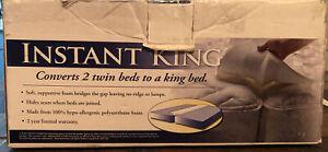 Foam Bed Bridge Connector Twin to King Beds Mattress  Hypoallergenic  NEW