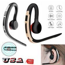 Wireless Bluetooth Headset Ear Hook Earphone with Mic for i Phone Samsung S9 S8