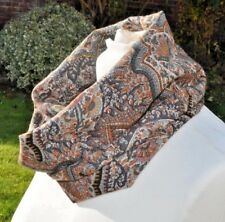 Cowl/snood infinity scarf in Liberty Varuna Wool, dusky pinks, greys, paisley