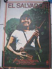 Political OSPAAAL Solidarity 100 % Original Cuban POSTER from 1984.El Salvador