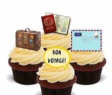 Bon Voyage Edible Cupcake Toppers, Standup Fairy Cake Bun Decorations Leaving