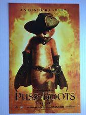 PUSS IN BOOTS MOVIE POSTER ~ FIRE MINI ORIGINAL 11x17 Shrek Antonio Banderas