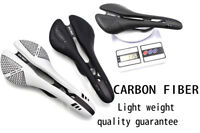 BICYCLE ROAD MOUNTAIN BIKE CARBON FIBER SADDLE + LEATHER APPROX 113-125g
