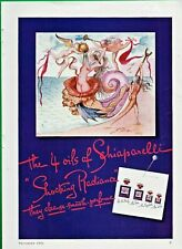 1945 PRINT AD ~ SALVADOR DALI ARTWORK ~ SCHIAPARELLI PERFUMES