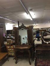 Victorian Mahogany Console With Mirror
