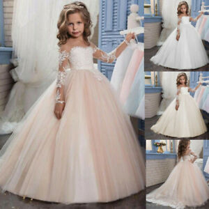 Communion Flower Girl Dress Bridesmaid Wedding Party Prom Princess Pageant Forma