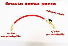 FRUSTA CORTA CON RUBINETTO RICARICA GAS R407C R404A R22 R134A ECC 1/4 - 1/4 SAE