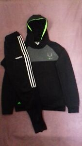 Boys Adidas MESSI Hoodie AND Adidas Climalite Joggers, Age 15-16 Years
