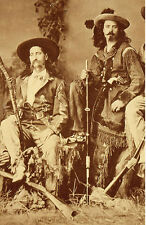 "Wild Bill Hickok and Buffalo Bill Cody Western Figure From Actual Photo 8"" X 10"""