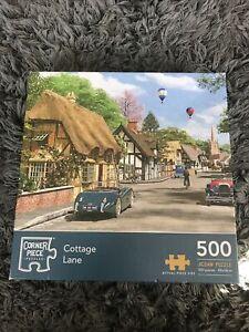 Corner piece 'Cottage Lane' - 500 Piece Puzzle