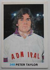 FKS Soccer Stars 1977-1978 NUMBER 348 PETER TAYLOR