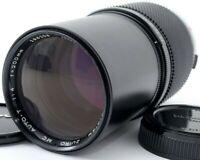 EXC+++++ Olympus Zuiko AUTO-T MC 200mm f/4 telephoto Lens w/Lens Caps FROM JAPAN