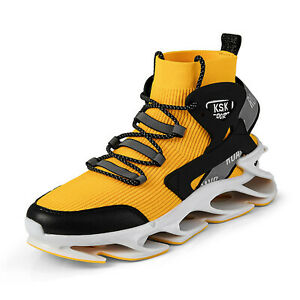 Men's Sports Shoe Breathable Comfortable High-top Walking Blade Running Trainers