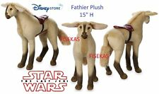 "Disney Star Wars The Last Jedi Fathier Plush 15"" Horse Equine Racing 2017 NEW"