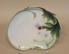 2006 Franz Porcelain FZ00594 Ladybug Design Sculptured Dessert Plate MIB