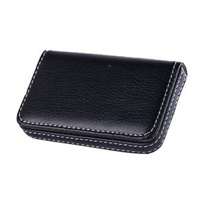 New Black Pocket PU Leather Business ID Credit Card Holder Case Wallet