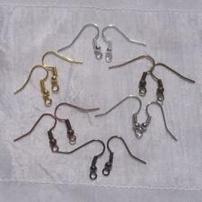 Lot 120 crochets boucles d'oreilles métal argenté doré bronze 18x19mm *AU14