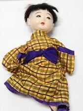 ANTIQUE VINTAGE JAPAN JAPANESE ICHIMATSU GOFUN /EGGSHELL? DOLL SILK CLOTHING